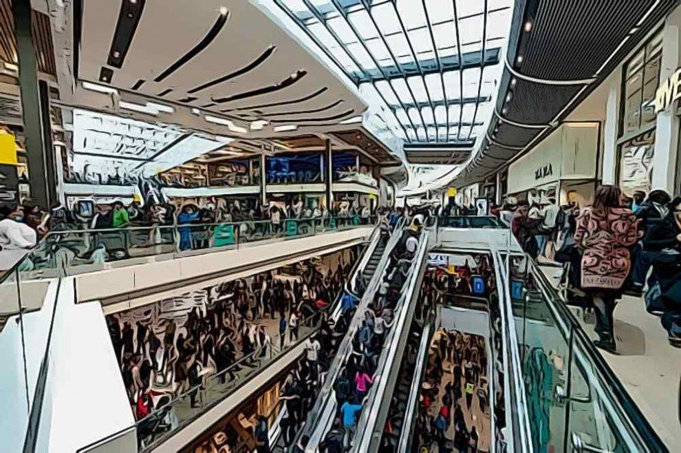 principio de aglomeracion centros comerciales